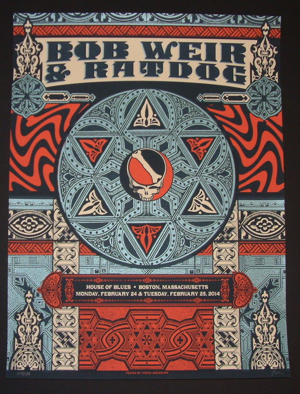 Status Serigraph Bob Weir and Ratdog Poster Boston 2014 Artist Edition
