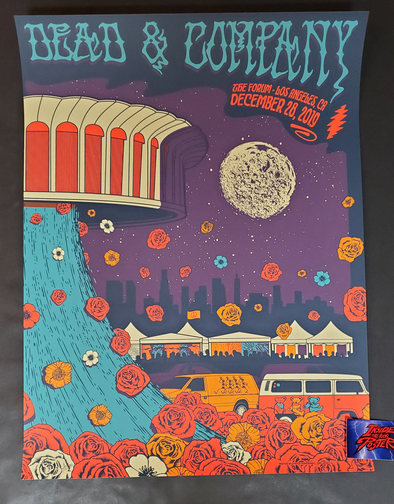 Status Serigraph Dead & Company Los Angeles Poster Artist Edition 2019 Night 2