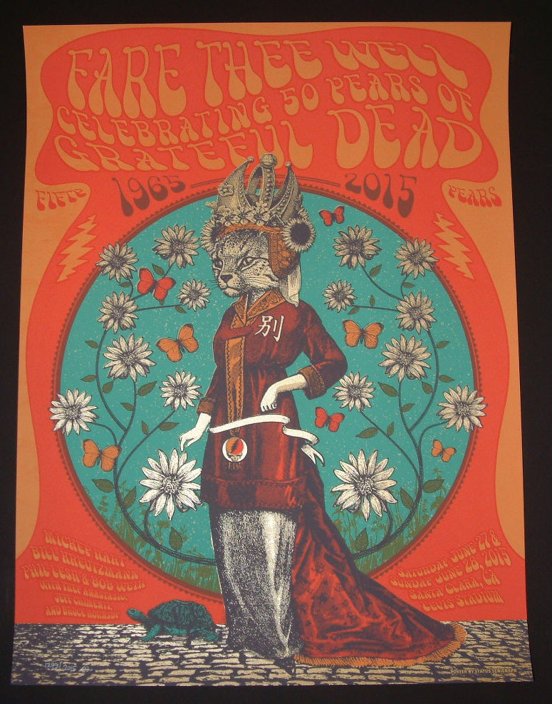 Status Serigraph Grateful Dead Santa Clara Poster China Cat 2015 Fare Thee Well Tour