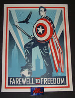 Shepard Fairey Stephen Colbert Farewell to Freedom Art Print 2014 Obey Giant