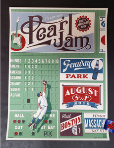 Steve Thomas Pearl Jam Poster Boston Artist Edition Fenway Park 2016