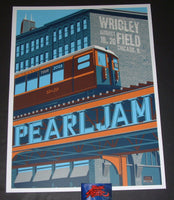 Steve Thomas Pearl Jam Chicago Poster Artist Edition Wrigley Field 2018