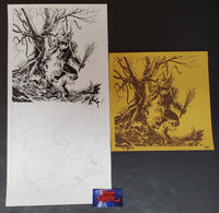 Tim Doyle Krampus Original Ink Drawing & Art Print 2012