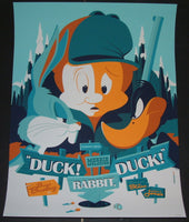 Tom Whalen Duck Rabbit Duck Bugs Bunny Merrie Melodies Cartoon Poster Mondo 2012