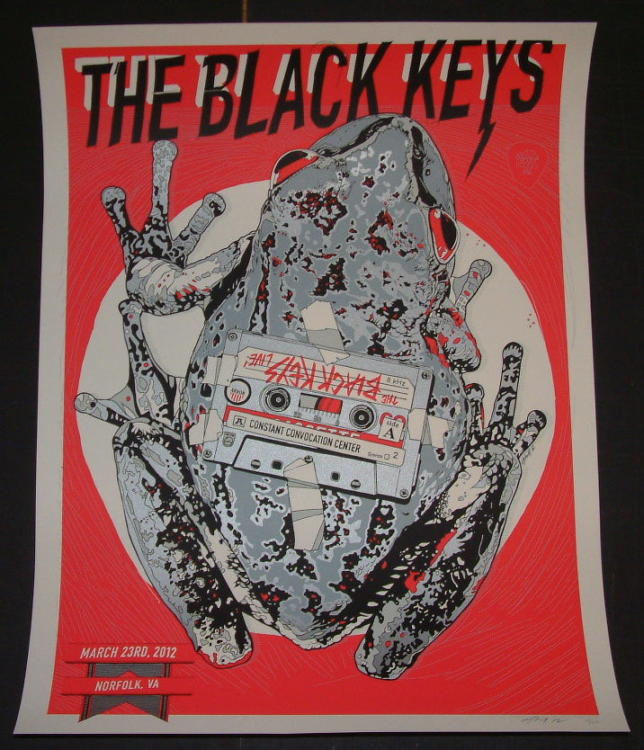 Tyler Stout Black Keys Poster Norfolk 2012 Artist Edition S/N