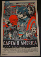 Tyler Stout Captain America Movie Poster Mondo Avengers 2011