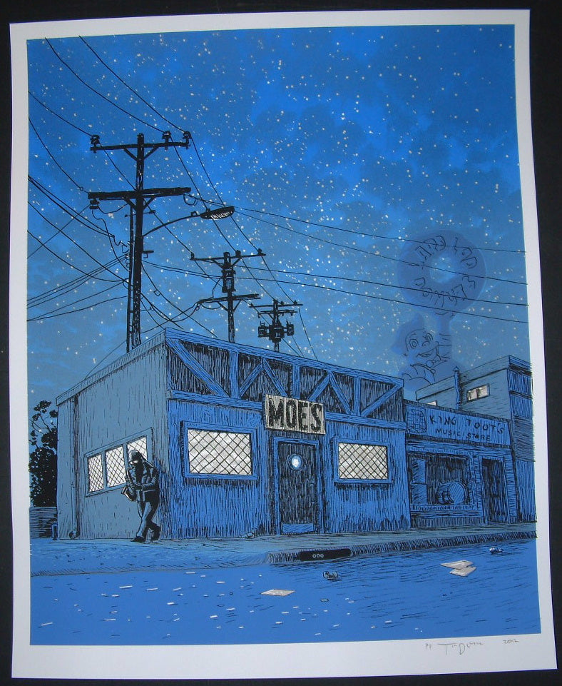 Tim Doyle Amanda Hugginkiss Simpsons Art Print Glow in the Dark Variant Signed 2012