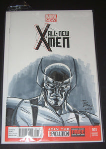 Tim Doyle Wolverine Original Drawing Cover All New X-Men #1 Comic Book 2012