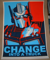 Tim Doyle Change Into A Truck Poster Giant Variant Signed 2012