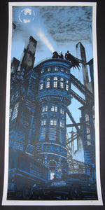 Tim Doyle Batman Gotham Police Department Art Print Glow in the Dark Variant 2014 Artist Proof