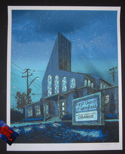 Tim Doyle The Simpsons Save Me Jeebus Art Print Glow in the Dark Variant 2014 Artist Proof