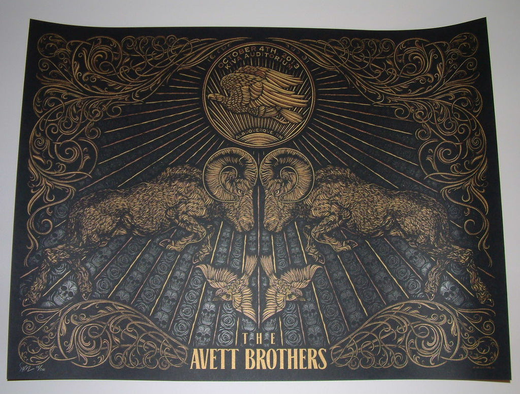Todd Slater Avett Brothers Poster Albuquerque 2013 Signed
