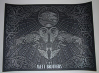 Todd Slater Avett Brothers Poster Albuquerque Silver Variant 2013 Artist Edition S/N