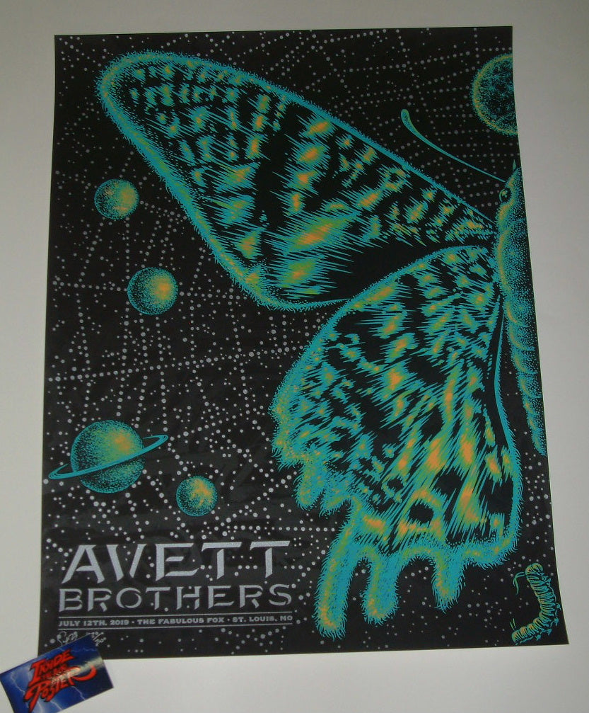 Todd Slater Avett Brothers St Louis Poster Artist Edition 2019