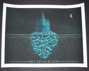 Todd Slater Dave Matthews Band Poster Darien Center 2014 Glow in the Dark