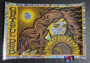 Todd Slater Grateful Dead Poster Sunflower Girl Wind Chimes Foil Variant 2020