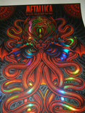 Todd Slater Metallica Poster Miami Foil Variant VIP 2017 Cthulhu Artist Edition S/N