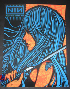 Todd Slater Nine Inch Nails Poster Dallas 2018