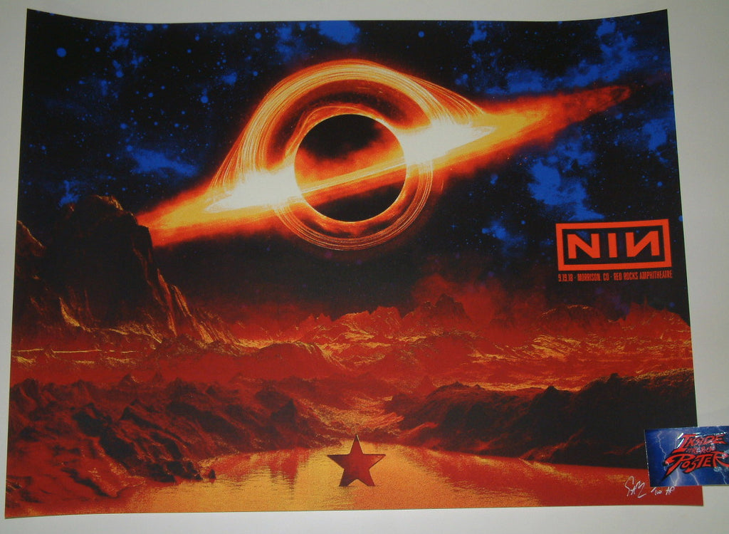 Todd Slater Nine Inch Nails Red Rocks Poster 2018 Artist Edition