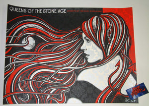 Todd Slater Queens of the Stone Age Poster Detroit 2017 Artist Edition
