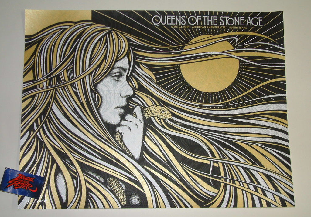 Todd Slater Queens of the Stone Age Poster Austin 2018 Artist Edition