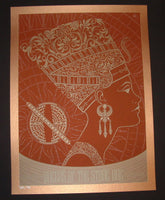 Todd Slater Queens of the Stone Age Poster Port Chester Copper Variant 2014 Artist Edition