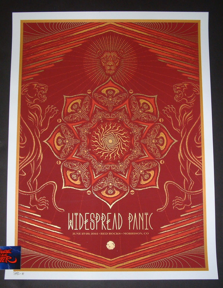 Todd Slater Widespread Panic Poster Red Rocks Morrison 2014 Artist Proof Edition