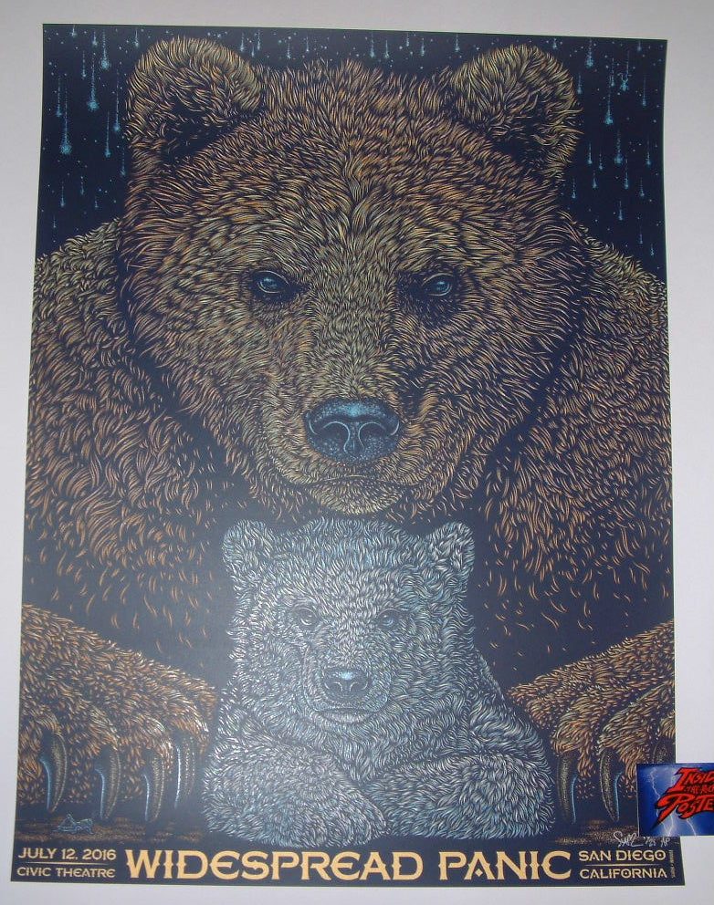 Todd Slater Widespread Panic Poster San Diego 2016 Artist Edition