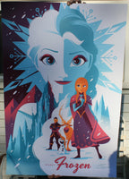 Tom Whalen Frozen Movie Poster Mondotees Disney 2014 Animated Film