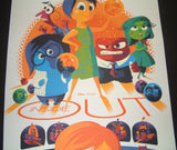 Tom Whalen Inside Out Movie Poster Disney Pixar 2016 Animated Film