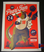 Tom Whalen Pearl Jam Boston Fenway Park Poster Artist Edition 2018 Away Shows