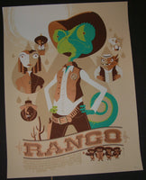 Tom Whalen Rango Movie Poster Mondo 2012
