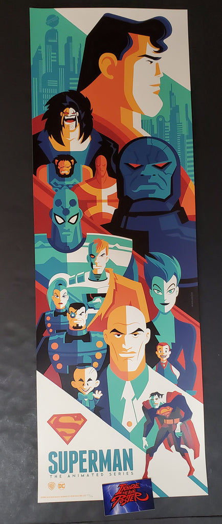 Tom Whalen Superman The Animated Series Poster 2018