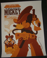 Tom Whalen Two-Gun Mickey Poster Mondo Disney 2011