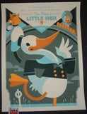 Tom Whalen Wise Little Hen Donald Duck Disney Movie Poster Mondo 2011