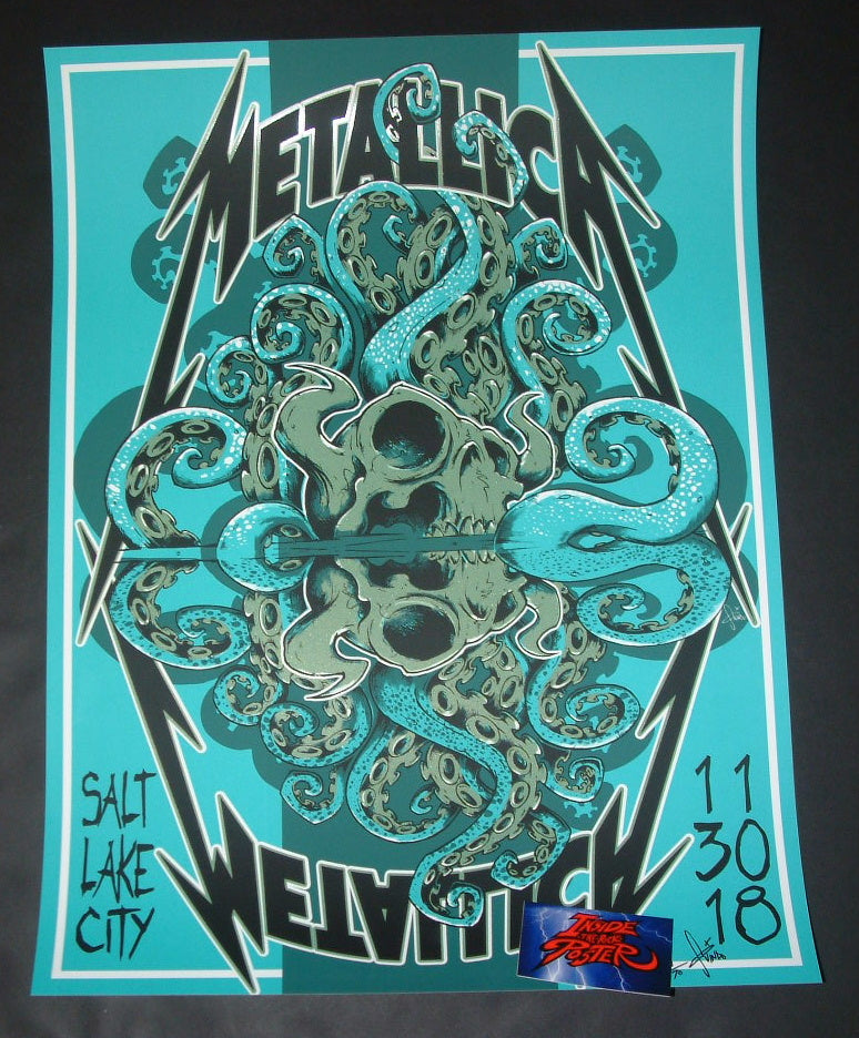 Tony Squindo Metallica Poster Salt Lake City Artist Edition 2018