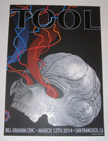 Adam Jones Tool San Francisco Concert Poster Night 2 2014