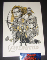 Tyler Stout Avengers Movie Poster Gold Variant Handbill 2016