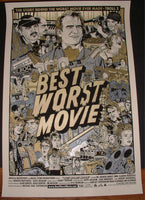 Tyler Stout Best Worst Movie Poster Gold Variant Mondo