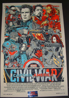 Tyler Stout Captain America Civil War Movie Poster Mondo 2017