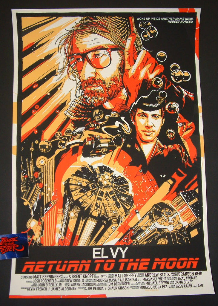 Tyler Stout EL VY Return to the Moon Tour Poster 2015 Blade Runner