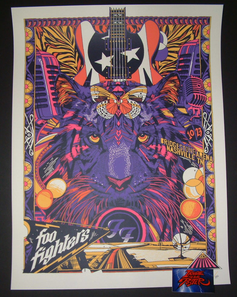 Tyler Stout Foo Fighters Poster Nashville 2017