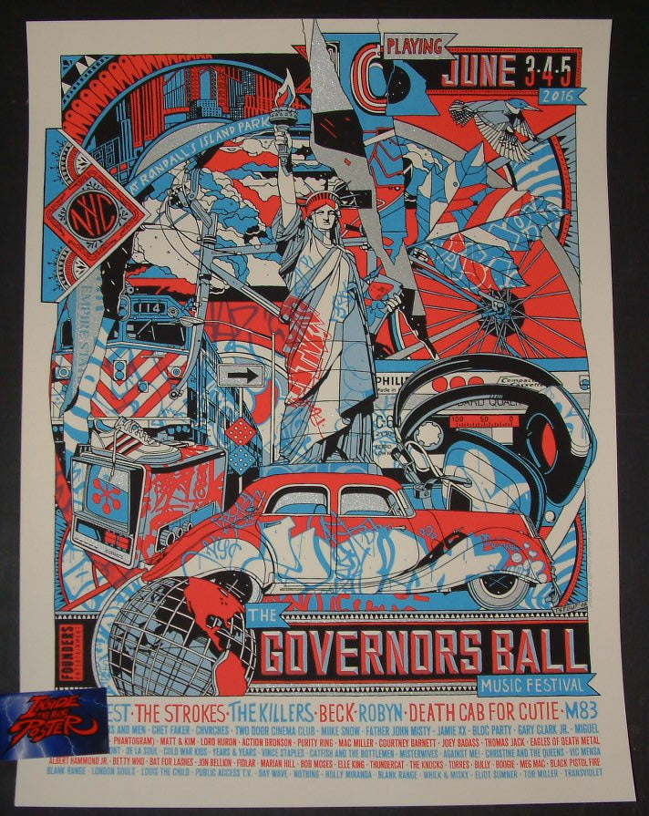 Tyler Stout Governors Ball Music Festival New York Poster 2016 Kanye West