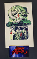 Tyler Stout Pris Blade Runner Handbill Print Green GID Pros & Cons World Series 2019