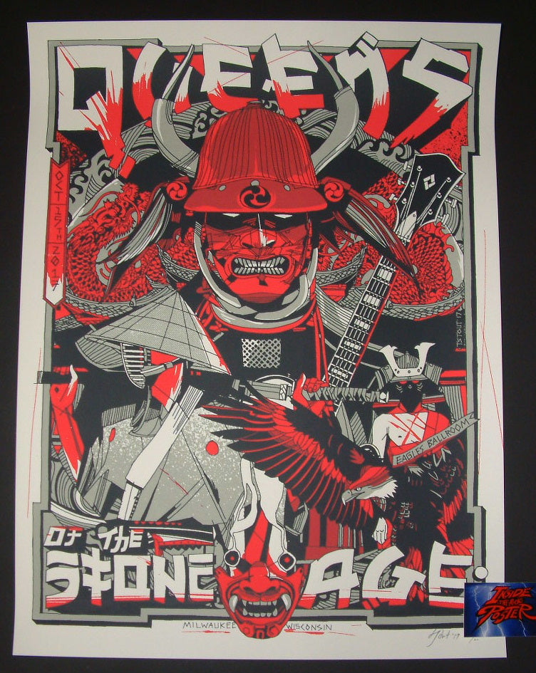 Tyler Stout Queens of the Stone Age Poster Milwaukee 2017 Artist Edition