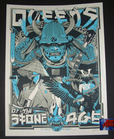 Tyler Stout Queens of the Stone Age Poster Milwaukee Blue Variant 2017 Artist Edition