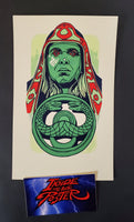 Tyler Stout Thulsa Doom Conan Handbill Print Green GID Pros & Cons World Series 2019