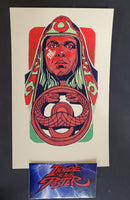 Tyler Stout Thulsa Doom Conan Handbill Print Red GID Pros & Cons World Series 2019