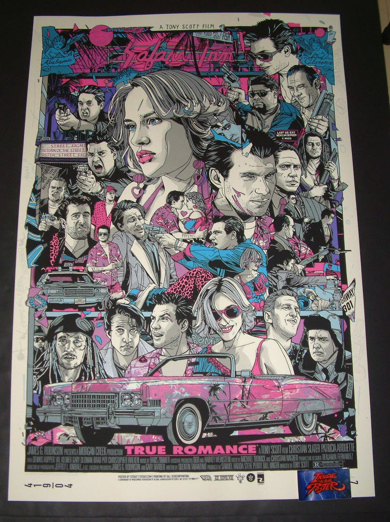 Tyler Stout True Romance Movie Poster Variant 2018