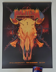 Vance Kelly Pantera Dallas Poster The Basement Record Release 2020